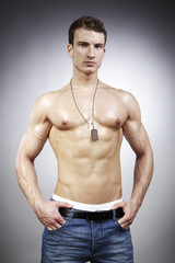 Man with lot of muscles