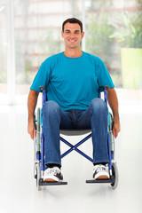 optimistic handicapped man