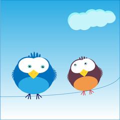 Charackter Spatzenpaar Birdie und Birdie