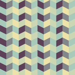 Autocollant pour porte ZigZag abstract retro geometric pattern