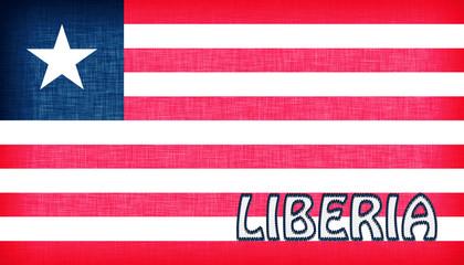 Linen flag of Liberia