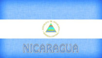 Linen flag of Nicaragua