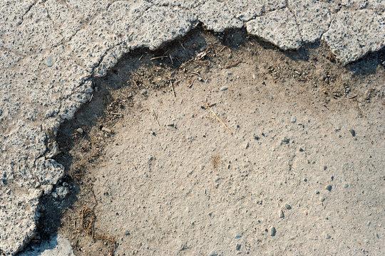 Old cracked asphalt