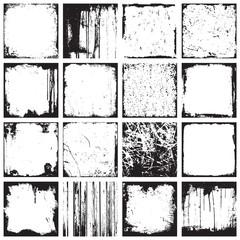 Grunge Square Backgrounds Frames Vector