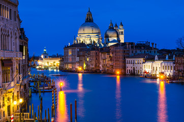 Photo sur Toile Europe Centrale Grand Canal of Venice by night