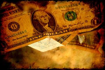 Fond de hotte en verre imprimé Affiche vintage Retroplakat - Dollars V