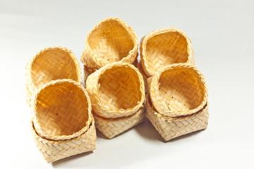 small box made of bamboo
