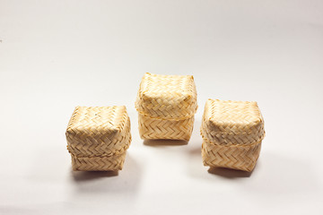 small baskets made ​​of bamboo