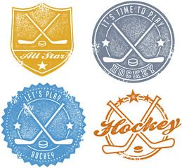 Vintage Hockey Sport Stamps