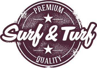 Surf and Turf Menu Stamp