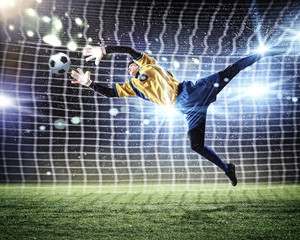 Wall Murals Football Goalkeeper catches the ball