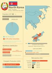 Vector Infographic of North Korea