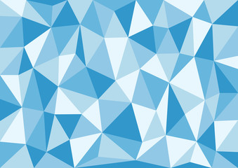 Soft Blue Triangles Vector Background