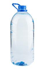 Single plastic bottle of water