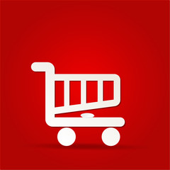 shopping cart icon, shopping basket design