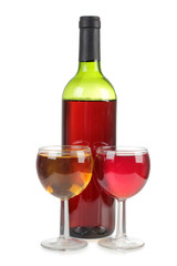 Wineglasses drink bottle