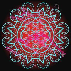Oriental mandala motif - what is karma