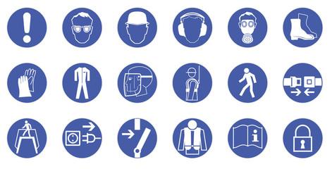 Gebotszeichen - Arbeitsschutz - Sicherheitszeichen