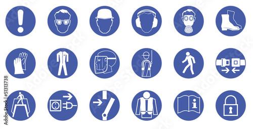 Gebotszeichen - Arbeitsschutz - Sicherheitszeichen\