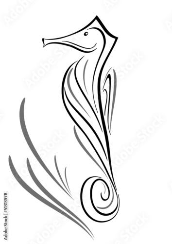 Cavalluccio Marino Tattoo Tribale Immagini E Vettoriali Royalty