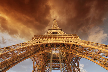 Fototapete - Beautiful view of Eiffel Tower in Paris