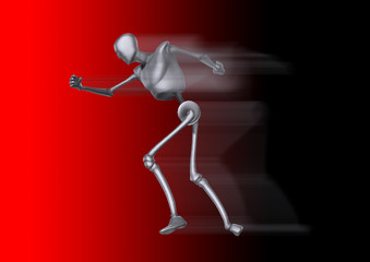 Running Metal Man