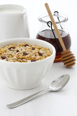 Delicious and healthy muesli cereal