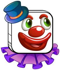 A clown's face