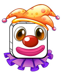 A square clown face