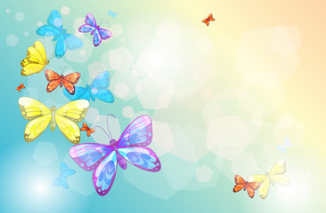 Papiers peints Papillons An empty stationery with butterflies