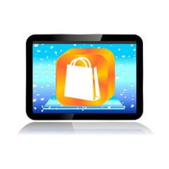 M-COMMERCE TABLET ICON shopping bag