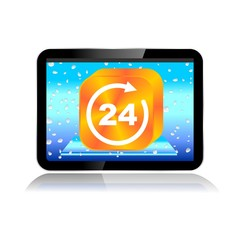 M-COMMERCE TABLET ICON 24 hours
