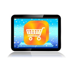 M-COMMERCE TABLET ICON shopping