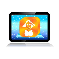 M-COMMERCE TABLET ICON contact
