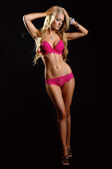 Beautiful blonde in underwear