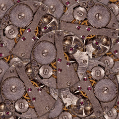 Background of clock mechanism with gears
