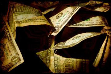 Fond de hotte en verre imprimé Affiche vintage Retroplakat - Dollars IV