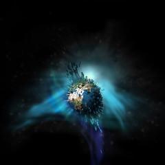 Erde Explosion Space