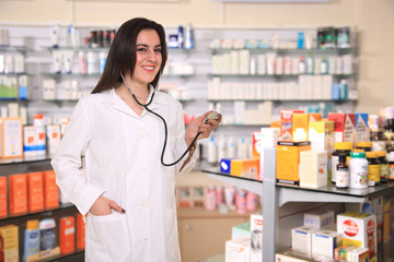 pretty young pharmacist
