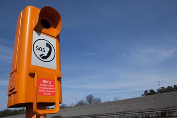 Notruf Säule an Landstraße / Autobahn