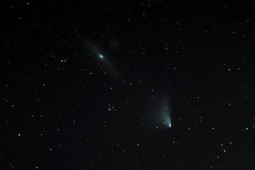 Komet Panstarrs mit Andromedanebel