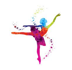 Danseuse Classique Pois Coloré