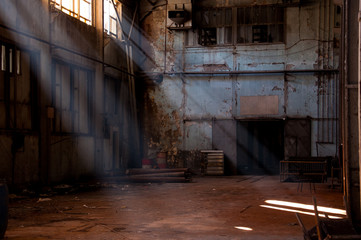 Photo sur Aluminium Les vieux bâtiments abandonnés inside of an abandoned factory