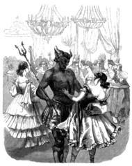 Fototapeten Karneval Devil - Masked Ball - Bal Masqué : Diable