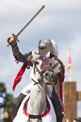 Foto op Canvas Ridders knights jousting