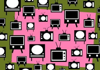 vintage television background design