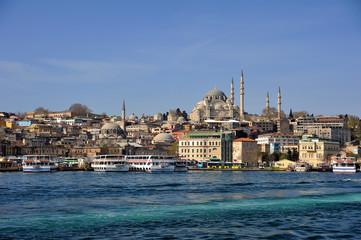 Istanbul Suleymaniye Mosgue-Golden horn sides