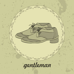 Gentleman's shoes vintage card design