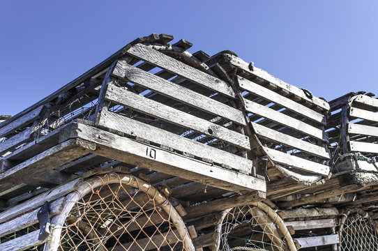 A Stack of Lobster Traps