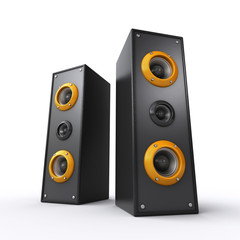 powerful black speakers